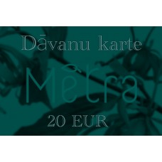 Elektroniskā dāvanu karte 20 EUR